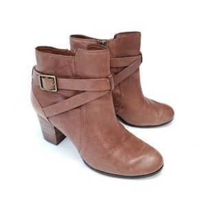 Cole Haan Grand Os Brown Leather Booties